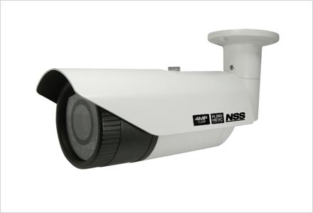 4メガピクセル防水暗視ネットワークカメラ